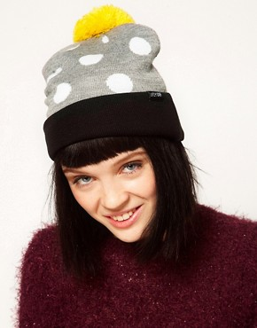 Image 1 ofLazy Oaf Polka Bobble Beanie Hat