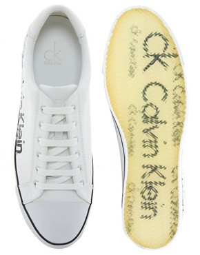 Image 3 ofCalvin Klein Vidal Leather Plimsolls