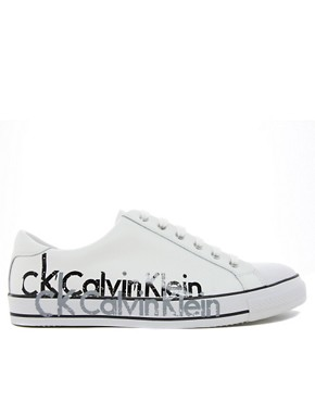 Image 4 ofCalvin Klein Vidal Leather Plimsolls