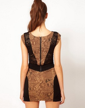 Image 2 ofHunt No More &#39;Dream Dancing&#39; Lace &amp; Snake Panel Dress