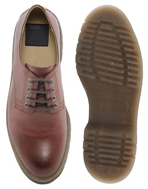 Image 3 ofASOS Derby Shoes in Leather