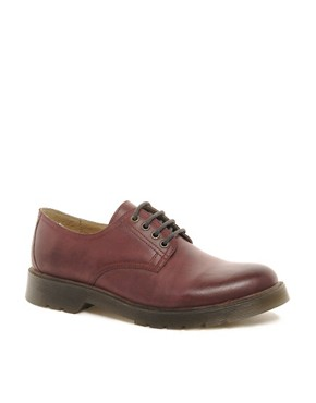 Image 1 ofASOS Derby Shoes in Leather