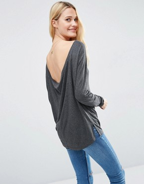 ASOS Scoop V Back With Long Sleeve