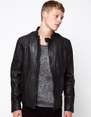 Barneys Originals Leather Jacket Biker