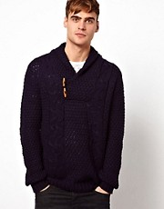 Solid Shawl Collar Jumper