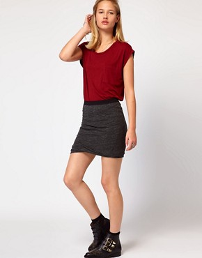 Image 1 of American Vintage Twisted Layer Mini Skirt