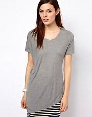 BZR Draped Jersey T-Shirt