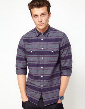 Image 1 ofASOS Blanket Stripe Overshirt