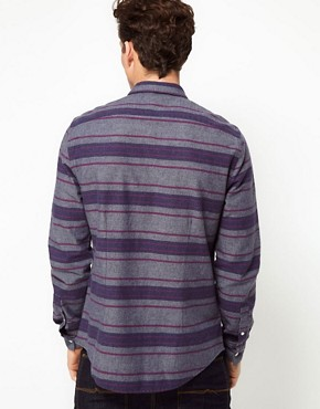 Image 2 ofASOS Blanket Stripe Overshirt