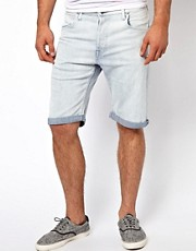 Lee Denim Shorts 5 Pocket Regular Ice Blue