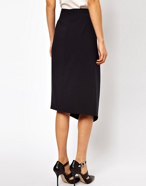 Image 2 ofASOS Pencil Skirt With Centre Front Split
