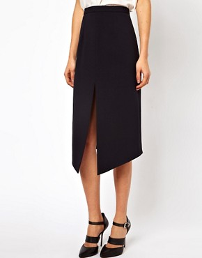 Image 4 ofASOS Pencil Skirt With Centre Front Split