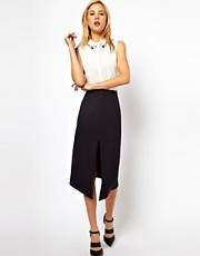 ASOS Pencil Skirt With Centre Front Split