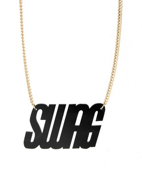 Image 1 ofASOS SWAG Necklace
