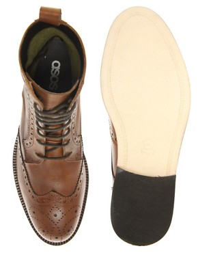 Image 3 ofASOS Brogue Boots With Leather Sole