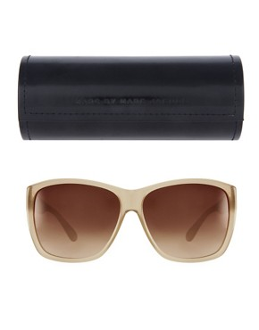 Image 2 ofMarc By Marc Jacobs Cream Square Frame Sunglasses