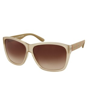 Image 1 ofMarc By Marc Jacobs Cream Square Frame Sunglasses