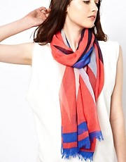 Maison Scotch Neon Stripe Scarf