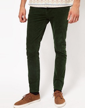 Image 1 ofRiver Island Victor Cord Chinos