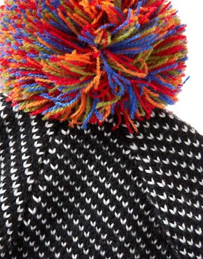 Image 3 ofASOS Birdseye Contrast Bobble Beanie