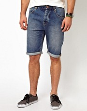 ASOS Denim Short In Longer Length