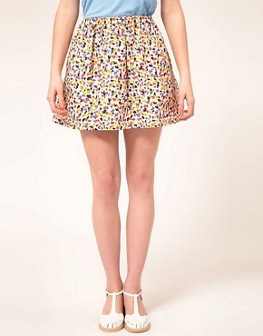 Image 4 ofAime by People Tree Organic Cotton Confetti Skirt