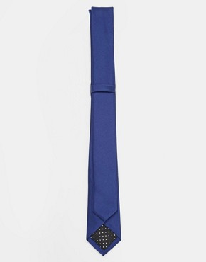Image 2 ofASOS Navy Slim Tie