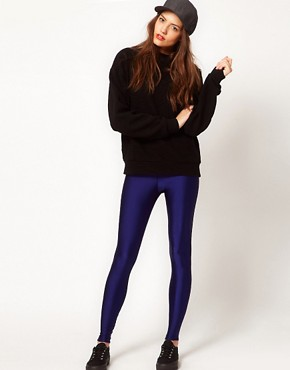 Image 1 ofAmerican Apparel High Waist High Shine Leggings
