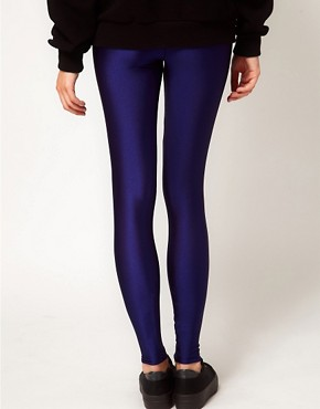 Image 2 ofAmerican Apparel High Waist High Shine Leggings