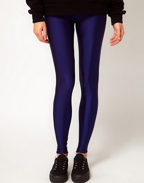 Image 4 ofAmerican Apparel High Waist High Shine Leggings