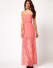 Club L Bandeau Lace Maxi Dress
