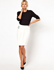 ASOS Pencil Skirt with Side Wrap