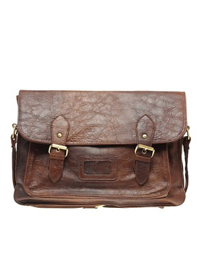 Image 1 ofASOS Double Buckle Retro Satchel