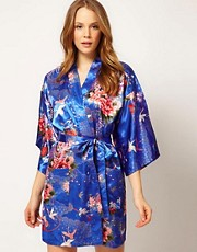 Kiku Summer Crane Dance Short Kimono
