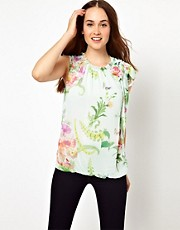 Ted Baker Top in Wallpaper Floral Print