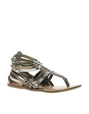 Warehouse Savina Thong Gladiator Sandals