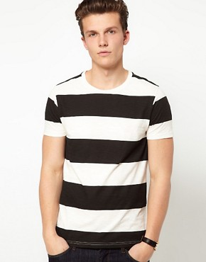 Image 1 ofASOS Stripe T-Shirt In Slubby Jersey