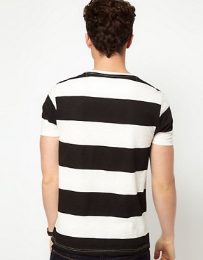 Image 2 ofASOS Stripe T-Shirt In Slubby Jersey