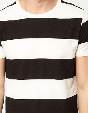 Image 3 ofASOS Stripe T-Shirt In Slubby Jersey