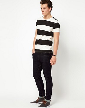 Image 4 ofASOS Stripe T-Shirt In Slubby Jersey