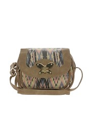 New Look Butterfly Folk Cross Body Bag