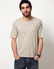 Nudie T-Shirt Organic Henley Neck
