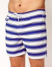 ASOS  Gestreifte Badeshorts