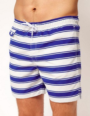 Image 1 ofASOS Stripe Swim Shorts