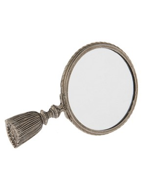 Image 1 ofASOS Mirror with Tassel Handle