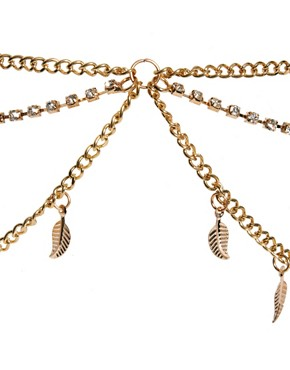 Image 3 ofRiver Island Leaf And Cup Chain Stretch Head Band