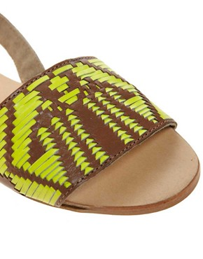 Image 2 ofASOS FOREST Leather Flat Sandals