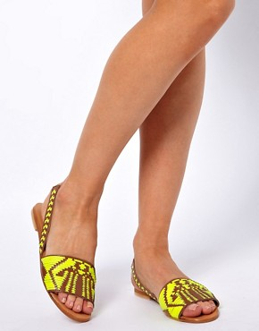 Image 3 ofASOS FOREST Leather Flat Sandals