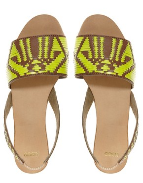Image 4 ofASOS FOREST Leather Flat Sandals
