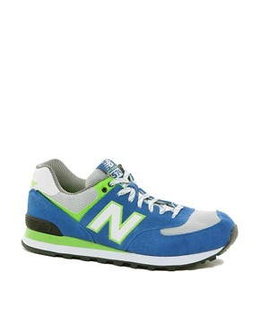 Image 1 ofNew Balance Exclusive To ASOS 574 Yacht Club Trainers